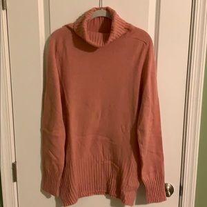 Zara Man salmon pink turtle neck sweater XL